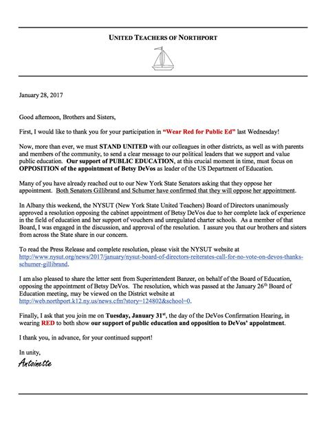 Parent Discipline Letter Home A Letter From The Utn Read Retired United