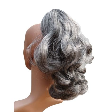 Salt And Pepper Hairpieces And Ponytails | salt and pepper curly hair wigs discount wig supply