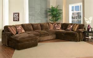 Oversized Sectionals With Chaise Chion Brown Fabric 4 Peice Oversized Chaise Sectional Set Left Facing Michael Anthony