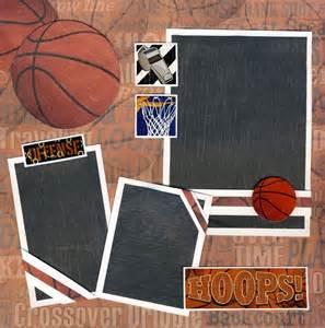 12x12 Scrapbook Album Basketball Scrapbook Albums Basketball 2 Premade Pages Scrapbooking 12x12 Cherry Ebay