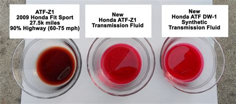 what color is transmission fluid changed transmission fluid atf z 1 and new synthetic dw