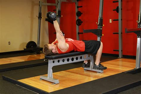 tricep extension on bench one arm supinated dumbbell triceps extension exercise