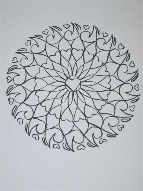 pattern mandala drawing hoontoidly simple tumblr drawings patterns images