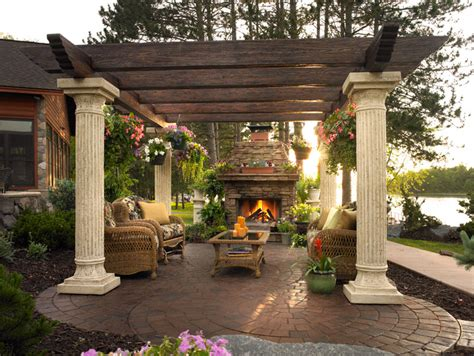 Outdoor Living Room by Pergolas And Outdoor Rooms