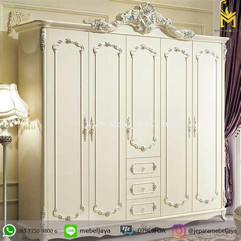 Lemari Portable Putih 4 2 4 Pintu lemari pakaian duco putih lp 09 jepara mebel jaya