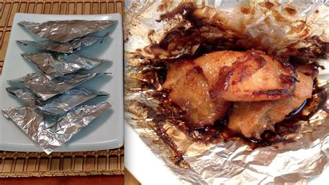 chinese foil wrapped chicken recipe how to make foil wrapped chicken parcels asian food youtube