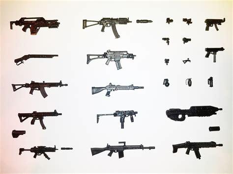 figure guns marauder series 7 black complete set 40 weapons