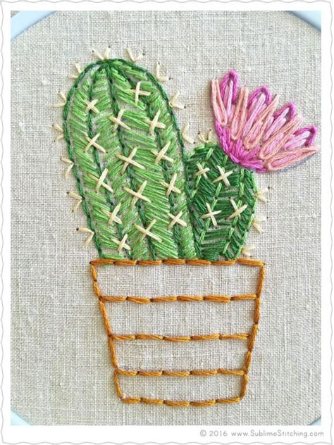 embroidery cactus new free embroidery pattern of bloomin cactus from