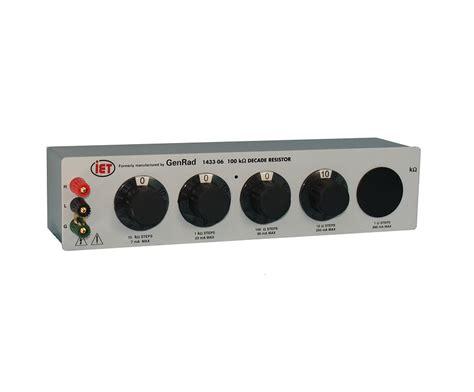 decade resistor uses genrad general radio 1433 series decade resistor iet