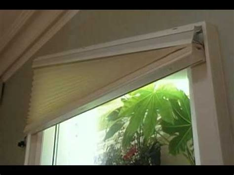 Blinds For Angled Windows - brading specialty shades trapezoid 1 youtube