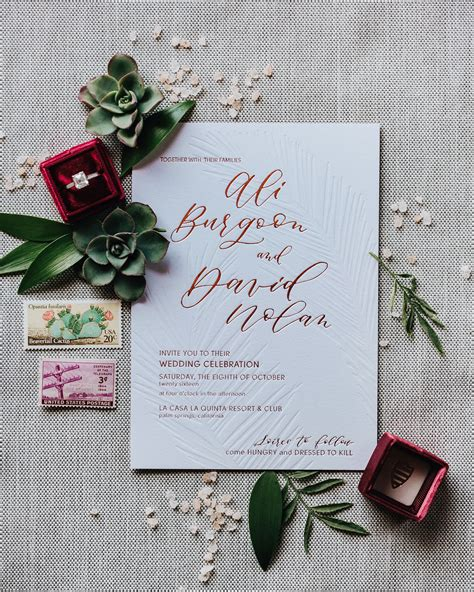 Wedding Invitation Card Toast by Cactus And Calligraphy Wedding Invitations