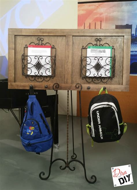 how to make a one backpack how to make your own organizing backpack station of diy
