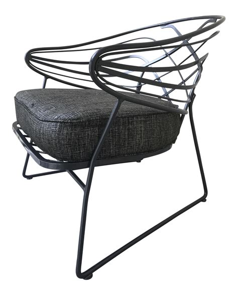 Wrought Iron Lounge Chairs by Mid Century Wrought Iron Lounge Chair Chairish