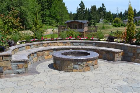 firepit landscaping building a pit construction and safety advice all