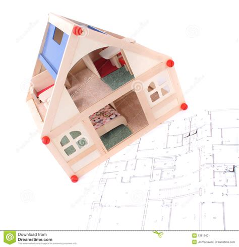 toy house plans toy house and plans stock image image 13815401