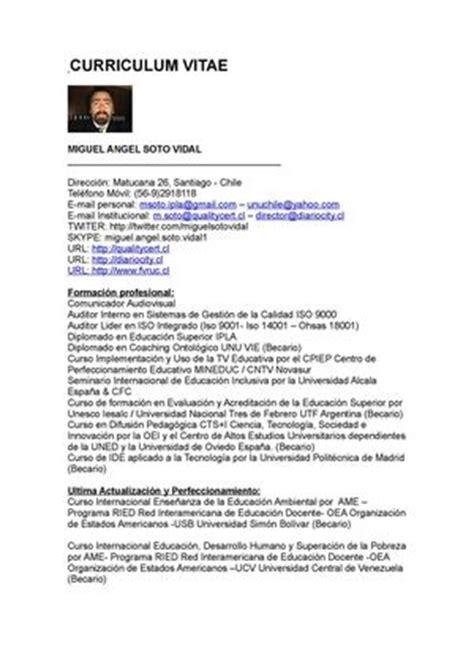 Modelo Curriculum Argentina 2015 Calam 233 O Cv Miguel Soto Vidal 2015