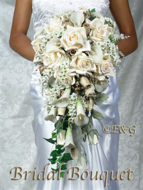 Silk Flowers Wedding Bouquet by Beautiful Gold Bouquet Wedding Bouquets Bridal