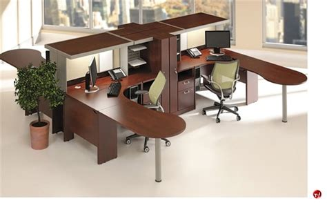 2 person l shaped computer desk the office leader ades cluster of 4 person l shape desk