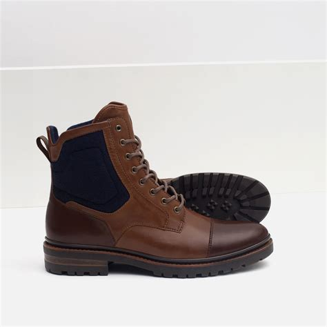 zara boot zara combined boots with grip sole in brown for lyst