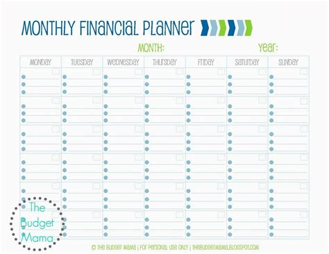 Budget Calendar Planner Search Results For Free Monthly Budget Planner Worksheet