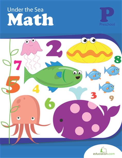 kindergarten activities under the sea under the sea math workbook education com