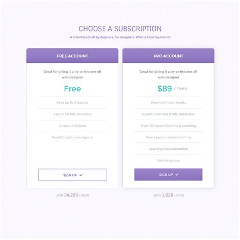 Clean Pricing Table Psd Blazrobar Com Photoshop Table Template
