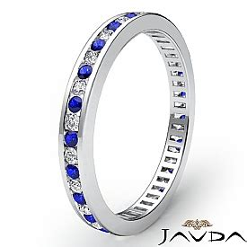Blue Sapphire 3 6ct blue sapphire channel set eternity band ring