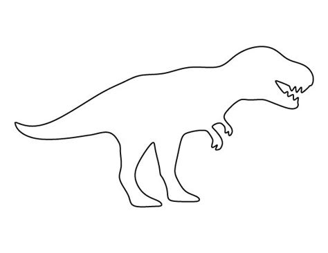 template dinosaur t rex pattern use the printable pattern for crafts