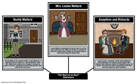 ms to hour the story of an hour characters storyboard by beckyharvey