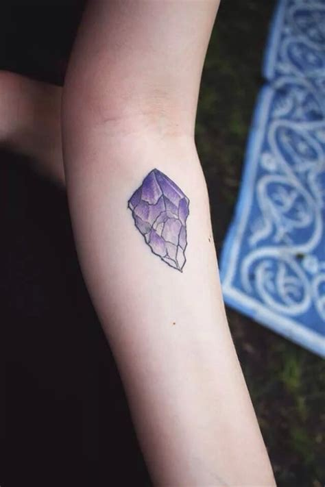 my first tattoo amethyst crystal done by taylor dees yelp