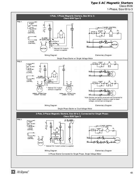 square d nema size 1 starter wiring diagram wiring