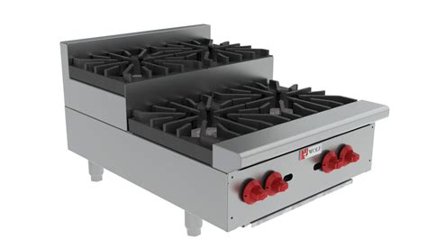 Countertop Gas Burners by Wolf Ahp212u Step Up Countertop Gas Hotplate 12 Quot 2 Burners
