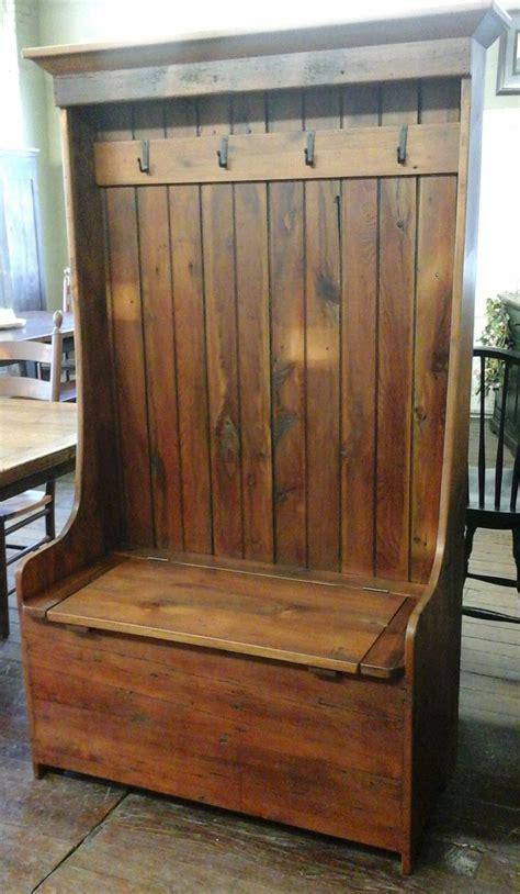 reclaimed barn wood furniture   barn wood settle bench
