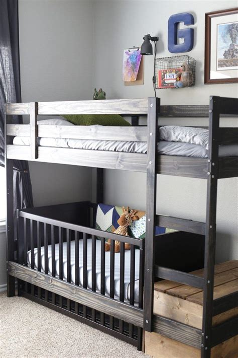 Bunk Bed With Crib On Bottom 17 Best Ideas About Bunk Bed Crib On Toddler Bunk Beds Small Bunk Beds And Bunk