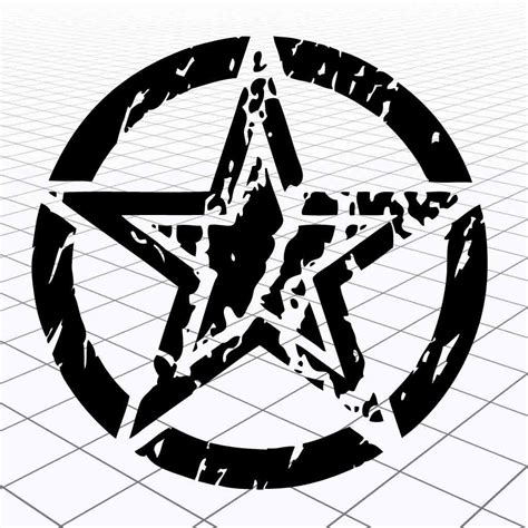 jeep army decals jeep distressed star sticker jeep distressed army star