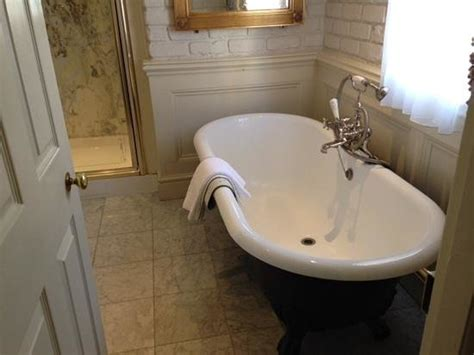 roll top bath in bedroom view from bedroom separate bathroom bath shower and