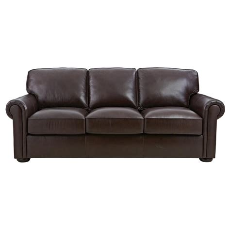 home decorators sofa home decorators collection alwin chocolate leather sofa