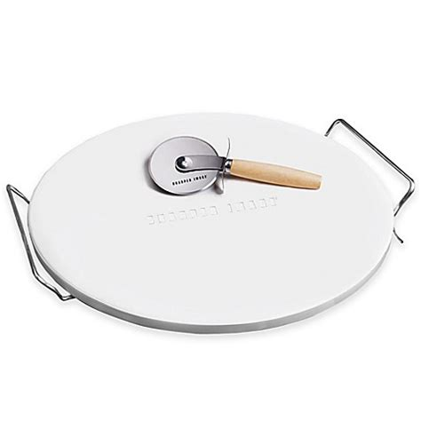 pizza stone bed bath and beyond sharper image 174 pizza stone and pizza cutter set bed bath