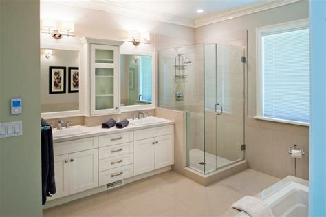 Craftsman Style Bathroom Ideas | craftsman style custom home traditional bathroom vancouver by kenorah design build ltd