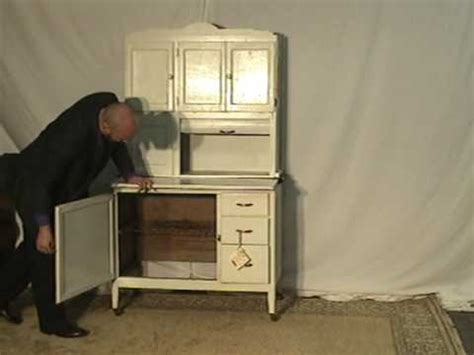 sellers kitchen cabinet history sellers hoosier cabinet ur60 youtube