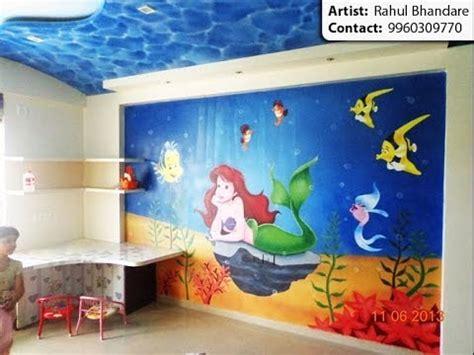 cartoon wall painting in bedroom cartoon painting kids bedroom wall painting artist in