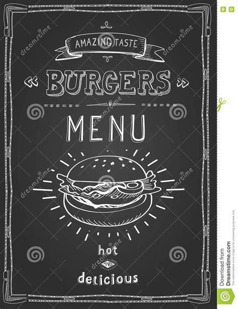 burger poster menu sketch drawing stock vector image