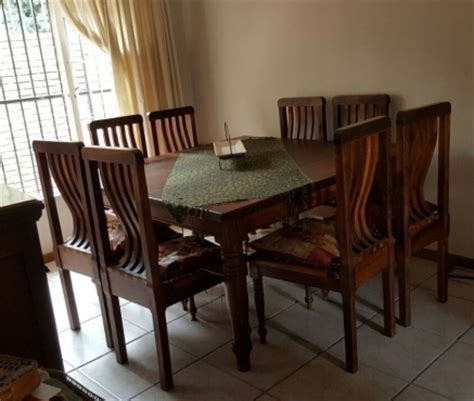 8 seater blackwood dining table and chairs pretoria east