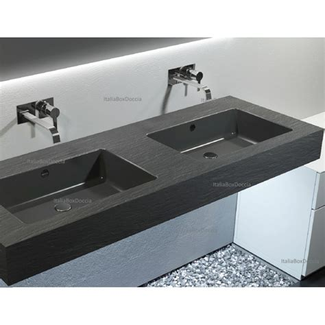 lavabo bagno in resina relax design top con doppio lavabo integrato in marmo resina