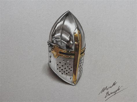 vikingen quality tekne photorealistic drawing of of a medieval helmet woahdude