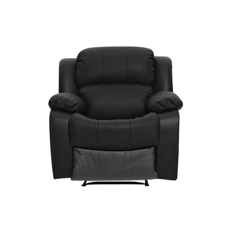 Sofa One Seater black leather single seater chair recliner