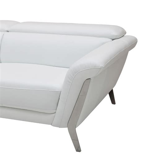 3 white leather sofa set divani casa ronen modern white leather sofa set