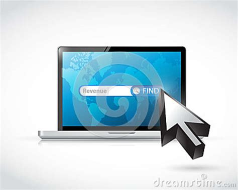 Computer Search Computer Search For Revenue Illustration Design Stock Illustration Image 40018915