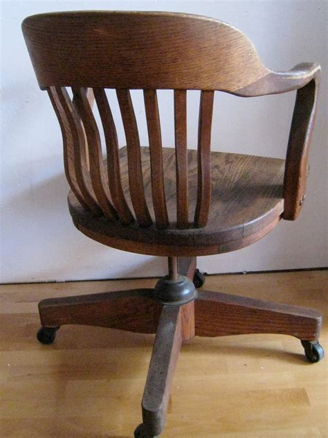 oak swivel desk chair oak desk chair art deco swivel tilting rolling office
