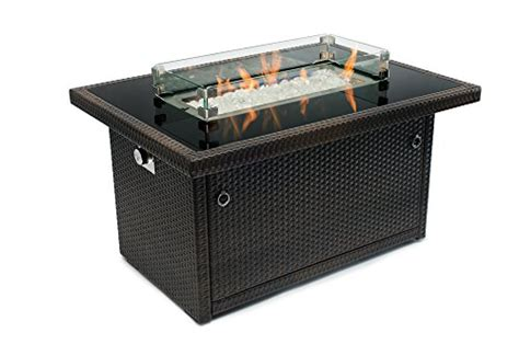 outland living fire table outland fire table 3 piece accessory set of tempered glass
